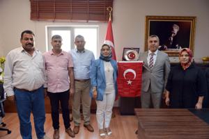 türkmen ve ekibi ziyaretlere devam ediyor