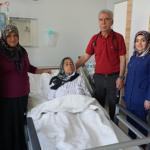 Yaşlı kadın Gaziantep'te yeniden şifa buldu